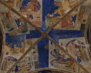 Plafond de la chapelle Saint Martial peint par Matteo Giovannetti entre 1344 et 1345. © Photographie Palais des Papes.